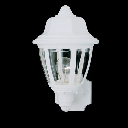 Essentials 13.5in One-light, durable White plastic outdoor wall fixture SL94408