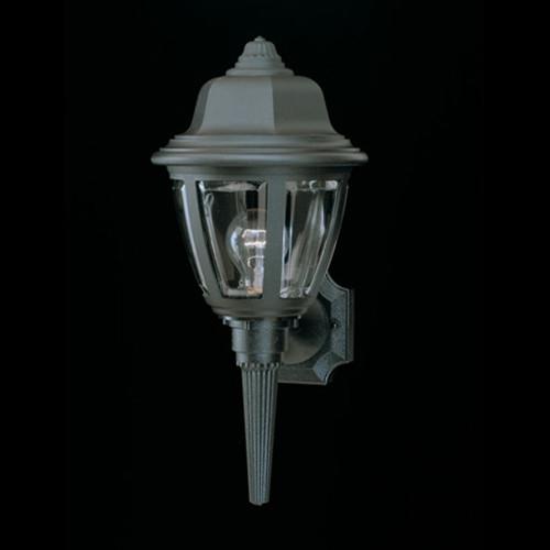 Essentials 17.5in One-light, durable Black plastic outdoor wall fixture SL94427