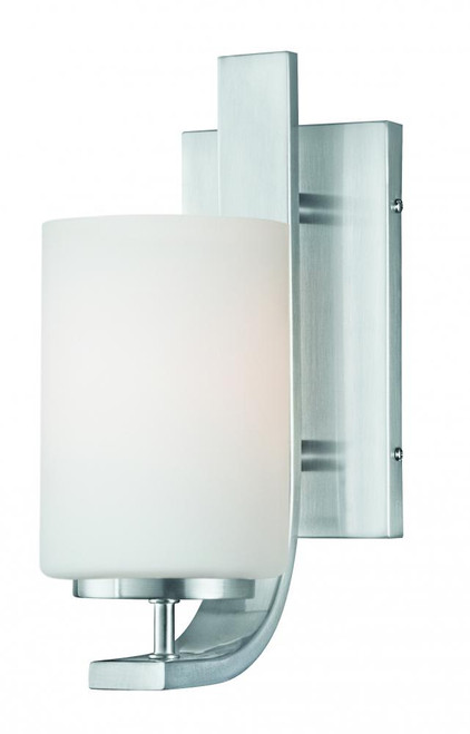 Pendenza 11.5in One-light wall sconce in Brushed Nickel finish with etched glass TN0005217