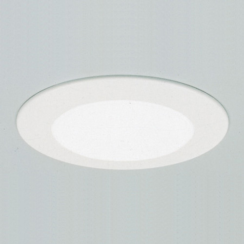 "6"" Non-IC Shower Trim. White Albalite Shower Light. Aluminum trim ring, no reflector, for non-IC TSH12"