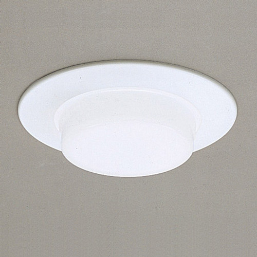 """6"""" Shower Trims White Drop Opal Shower Light Aluminum trim ring, no reflector, for non-IC application TSH16"""