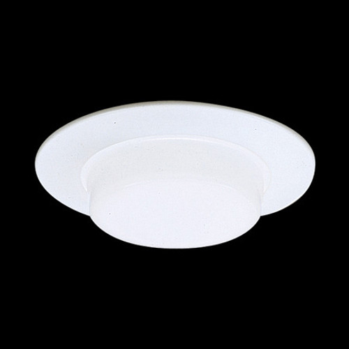 "6"" Shower Trim White Drop Opal Shower Light Aluminum trim ring, with reflector, for IC Application TSH16IC"