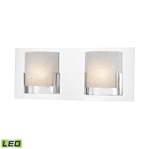 Ophelia 2 Light LED Vanity In Chrome And Clear Glass BVL1202-0-15