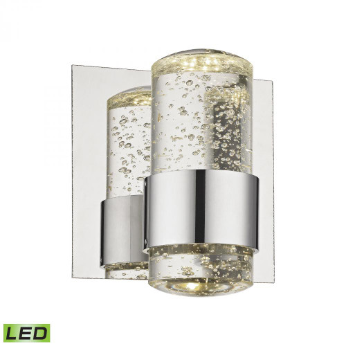 Surrey 1 Light LED Vanity In Chrome And Bubbled Glass BVL151-0-15
