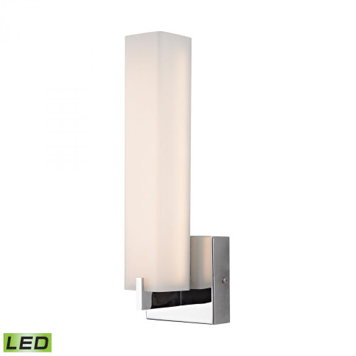 Moderno LED 1 Light Wall Sconce In Chrome And White Opal Glass BVL281-10-15