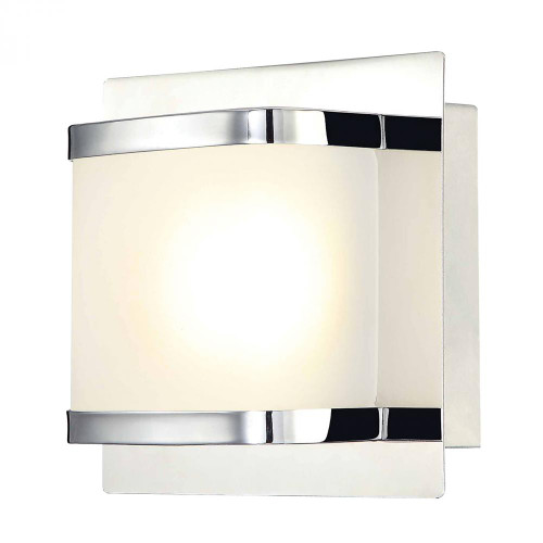 Bandeaux 1 Light LED Vanity In Chrome And Opal Glass BVL4001-10-15
