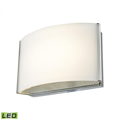 Pandora LED 1 Light LED Vanity In Chrome And Opal Glass BVL911-10-15