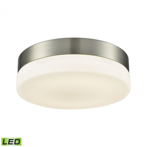Holmby 1 Light Round Flushmount In Satin Nickel With Opal Glass - Medium FML4050-10-16M