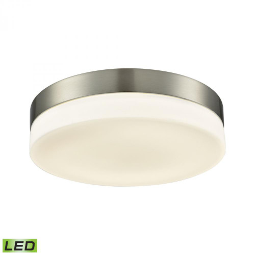 Holmby 1 Light Round Flushmount In Satin Nickel With Opal Glass - Large FML4075-10-16M