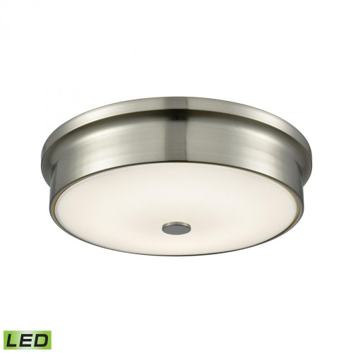 Towne Round LED Flushmount In Satin Nickel And Opal Glass - Small FML4225-10-16M