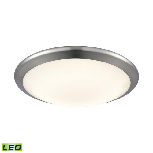 Clancy Round LED Flushmount In Chrome And Opal Glass - Small FML4525-10-15