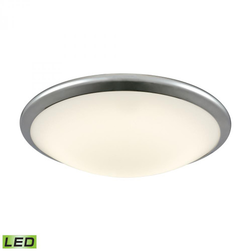 Clancy Round LED Flushmount In Chrome And Opal Glass - Large FML4550-10-15
