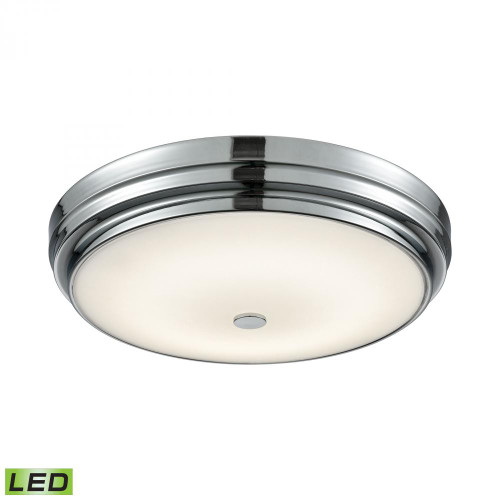 Garvey Round LED Flushmount In Chrome And Opal Glass - Large FML4750-10-15