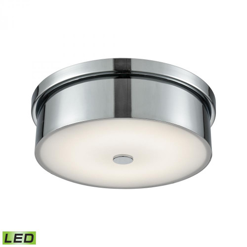Towne Round LED Flushmount In Chrome And Opal Glass - Small FML4925-10-15