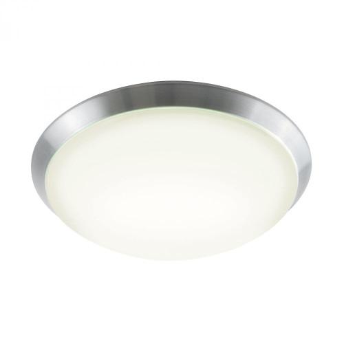 Luna Flushmount In Brushed Aluminum And White Polycarbonate FML502-10-98