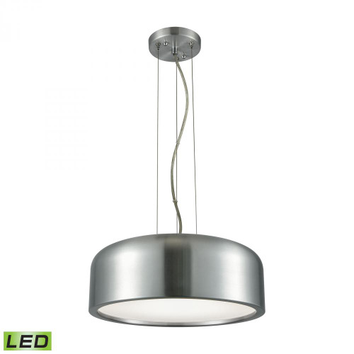 Kore 1 Light LED Pendant In Aluminum With Acrylic Diffuser LC2101-N-98