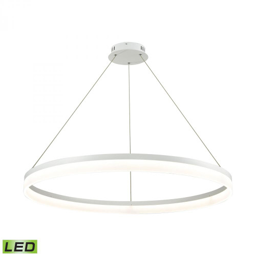 Cycloid 1 Light LED Pendant In Matte White With Acrylic Diffuser - Large LC2401-N-30