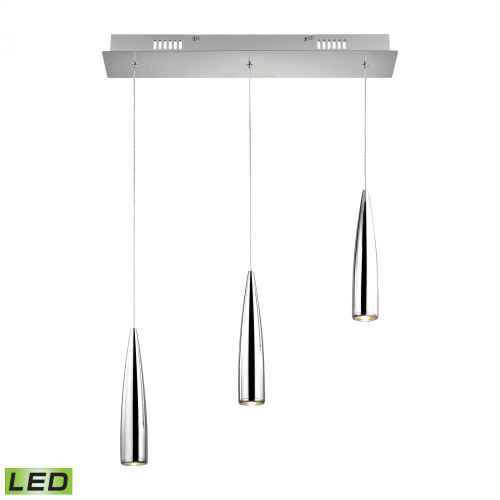 Century 3 Light LED Pendant In Chrome LC703-15-15