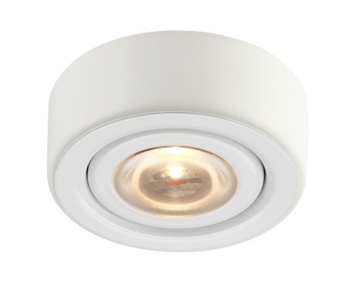 Eco 1 Lamp LED Puk Light In White With Clear Glass MLE-101-30