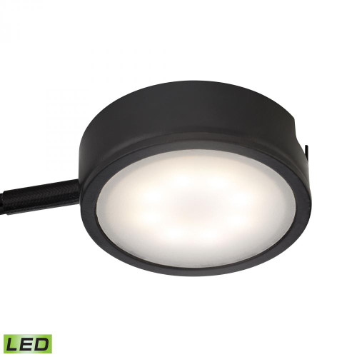 Tuxedo 1 Light LED Undercabinet Light In Black With Power Cord And Plug MLE301-5-31