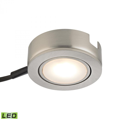 Tuxedo Swivel 1 Light LED Undercabinet Light In Satin Nickel With Power Cord And Plug MLE423-5-16MK