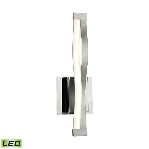 Twist 6 Watt LED Wall Sconce In Aluminum And Chrome WSL1351-10-98