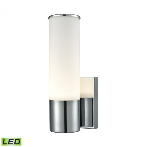 Maxfield 1 Light LED Wall Sconce In Chrome And Opal Glass WSL825-10-15