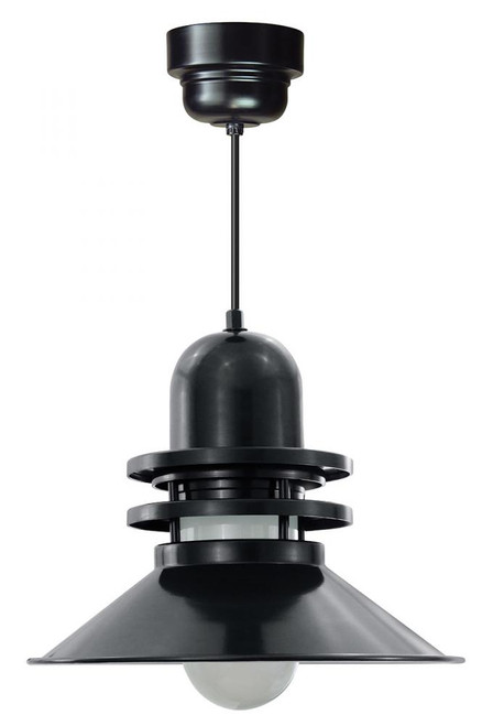 "16"" Orbitor Shade in Black with Frosted Glass on an 8' Black cord with a Driver Canopy ORB216-FR-M024LDNW40K-RTC-BLC-41"