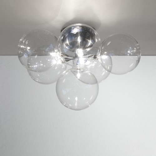 Cluster Wall Sconce/Semi-Flushmount Ceiling Light 6