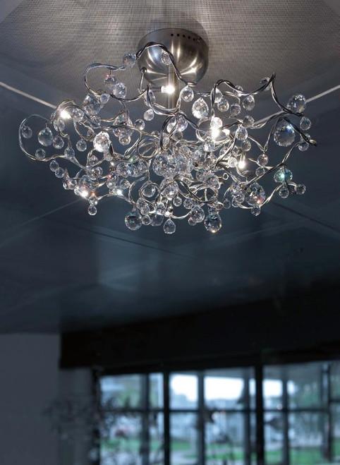 Tiara Diamond Semi-Flushmount Ceiling Light 9