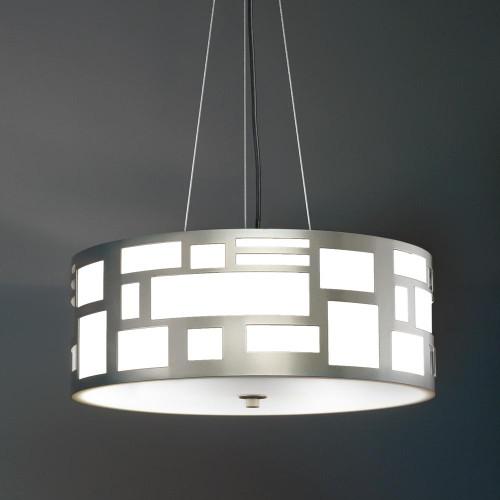 Genesis Modern LED Retrofit 16 Inch Pendant Light Drum Shade 11211-16