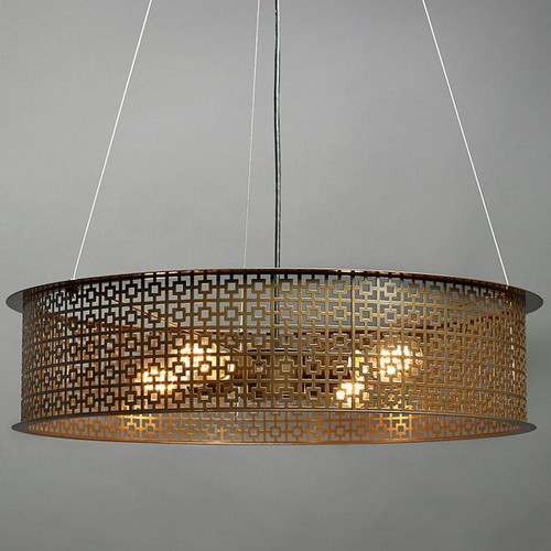 Clarus Modern Incandescent Drum Shade Pendant Light 14307-A1