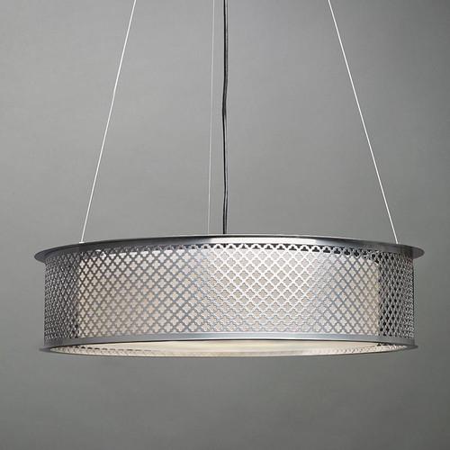 Clarus Modern Incandescent Drum Shade Pendant Light 14308-CL