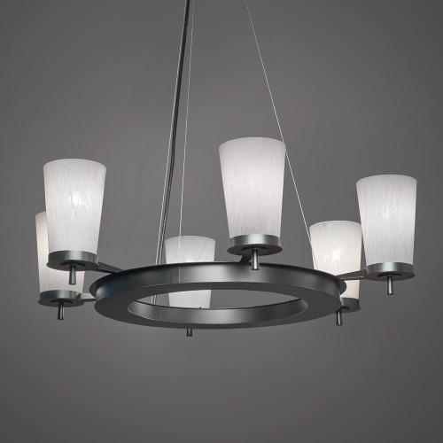 Radius Modern Incandescent Up Light Chandelier 15344