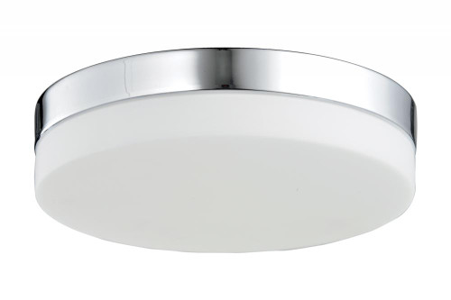 CERMACK ST. Flushmount Drum Shade in Polished Chrome HF1106-CH