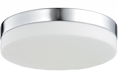 CERMACK ST. Flushmount Drum Shade in Polished Chrome HF1107-CH