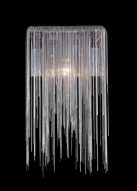 FOUNTAIN AVE. COLLECTION CHROME JEWLERY CHAIN WALL SCONCE HF1200-CH