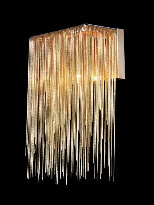 FOUNTAIN AVE. COLLECTION GOLD JEWLERY CHAIN WALL SCONCE HF1200-G