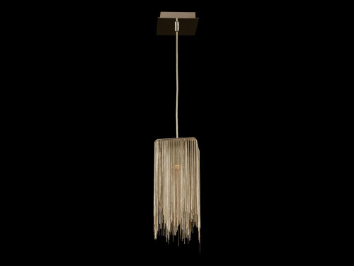 FOUNTAIN AVE. GOLD JEWELRY SQUARE HANGING FIXTURE Modern in Gold HF1204-G