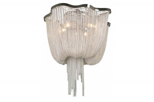 MULLHOLAND DR. DRAPED CHROME CHAIN FLUSH MOUNT HF1403-CH