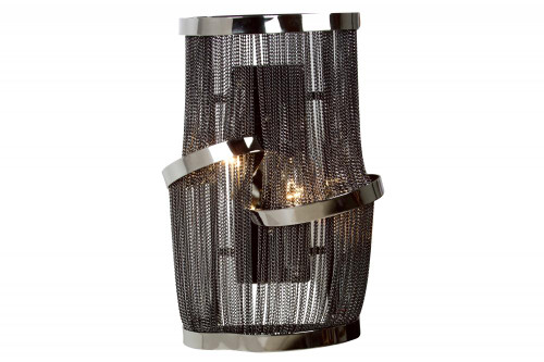 MULLHOLAND DRIVE COLLECTION BLACK CHAIN WALL SCONCE HF1404-BLK