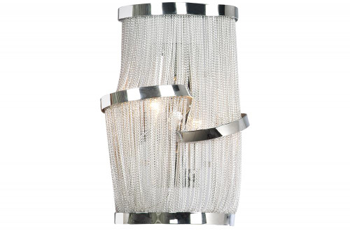 MULLHOLAND DRIVE COLLECTION CHROME CHAIN WALL SCONCE HF1404-CH