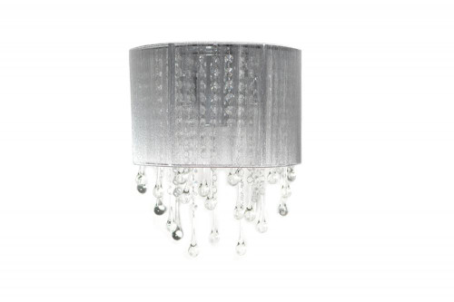 BEVERLY DRIVE COLLECTION SILVER SILK STRING AND CRYSTAL WAL SCONCE HF1511-SLV