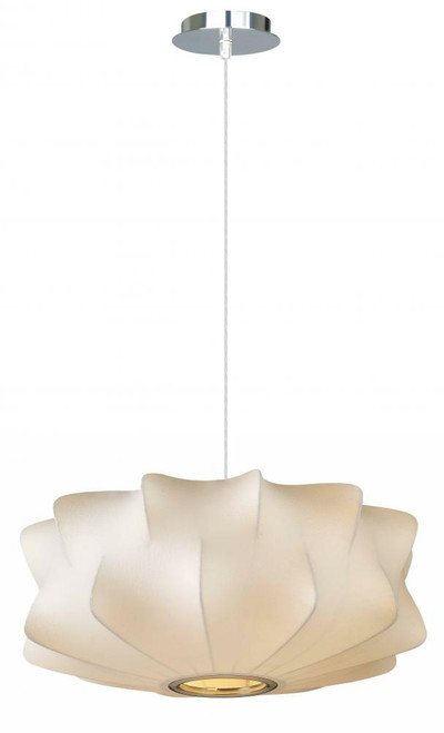 MELROSE PL. WHITE FABRIC PENDANT LIKE HANGING FIXTURE Contemporary Down Light  CHANDELIER HF2110-WHT