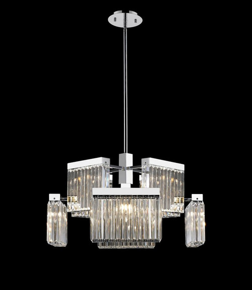 BROADWAY Other Chandeliers in Polished Nickel HF4008-PN