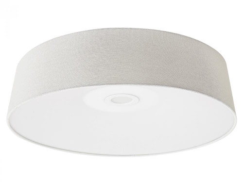 CERMACK ST. Flushmount Drum Shade in White HF9201-IVR