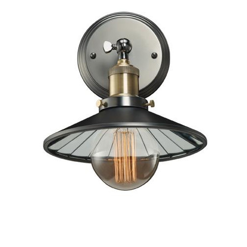 PEWTER SCONCE W/MIRRORED SHADE 810021