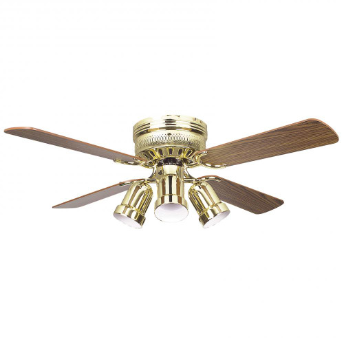 Concord By Luminance 42 Inch Hugger Ceiling Fan W/4 Bullet Cb - Polished Brass 42HUG4BB-Y408