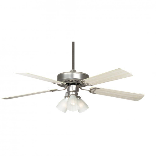 Concord By Luminance 52 Inch Home Air Ceiling Fan W/ 3Lt Kit - Satin Nickel 52HA5ESN