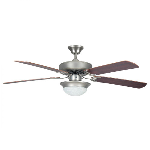 Concord By Luminance 52 Inch Heritage Fusion Ceiling Fan W/2Light Mb Cfl Light Kit - Satin Nickel 52HEF5SN